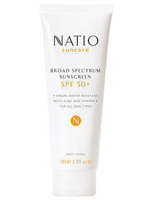 Natio Broad Spectrum Sunscreen SPF 50+, 100ml product photo