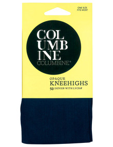 Columbine Opaque Knee-High, 50 Denier, Navy product photo