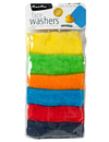 Mum 2 Mum Face Washers, Bright, 6-Pack product photo  THUMBNAIL