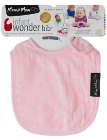 Mum 2 Mum Infant Wonder Bib, Light Pink product photo