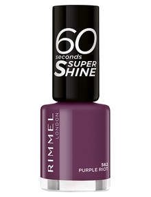 Rimmel 60 Seconds Nail Polish, 562 - Purple Riot product photo