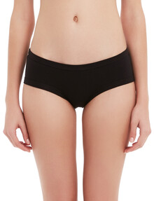 Honey Vegas Happy Cotton Boyleg Brief, Black product photo