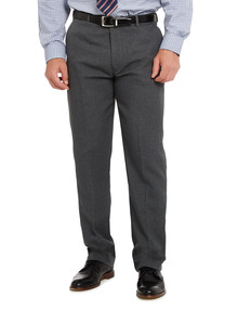 Farah Flat Front Pant, Charcoal product photo