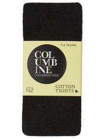 Columbine Cotton Rich Black Tights product photo