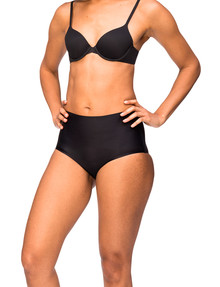 Nancy Ganz BW6131 Sweeping Curves Brief, Black product photo