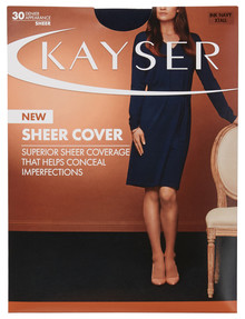 Kayser Sheer Cover Pantyhose, 30 Denier, Navy product photo