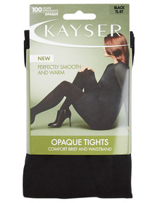 Kayser Matte Opaque Tight, 100 Denier, Black product photo
