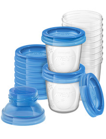 Avent Milk Storage Cups 180ml, 10-Pack product photo