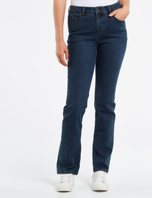 Denim Republic Straight Leg Jean, Mid Wash product photo