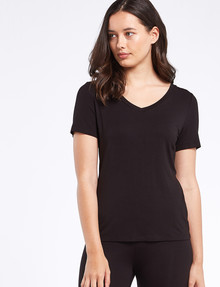 Bodycode V-Neck Tee, Black product photo