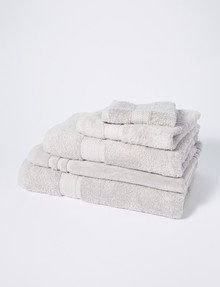 Linen House Newport Towel Range, Silver product photo