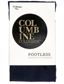 Columbine Footless Tight, 50 Denier, Navy product photo