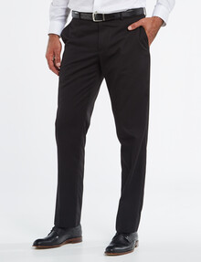 Bracks Vermont Flat Front Pant - Black product photo