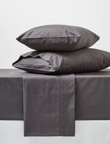 Linen House 250 Thread Count Sheet Set, Charcoal product photo