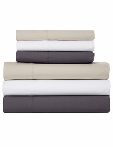 Linen House 250 Thread Count Cotton Flat Sheet product photo