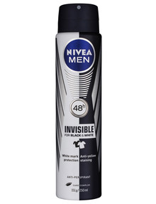 Nivea Mens Black & Whte Aerosol Deodorant, 250ml product photo