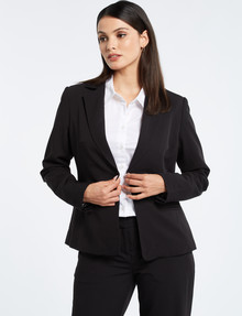 Oliver Black Two-Way-Stretch 1-Button Jacket, Black product photo