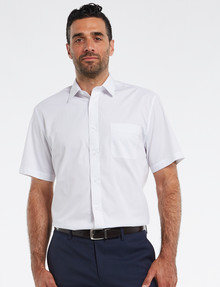 Chisel Formal Essential Short-Sleeve Shirt, White product photo