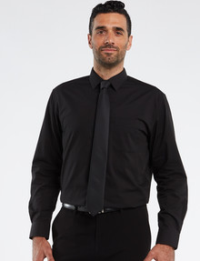 Chisel Formal Essential Long-Sleeve Shirt, Black product photo
