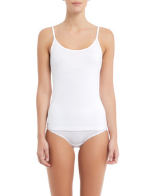 Jockey Woman Everyday Comfort Bamboo Cami, White product photo