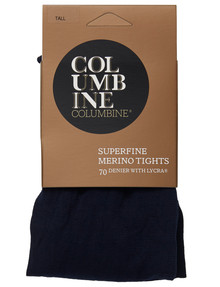 Columbine Plain Superfine Merino Tight Fleet, Navy product photo