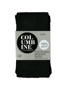 Columbine Merino Footless Tight, Black product photo