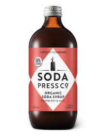 Soda Press Organic Soda Syrup, Raspberry & Mint product photo