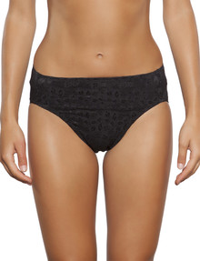 Jockey Woman No Ride Up Lace Hi-Cut Brief Black product photo