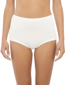 Jockey Woman Comfort Classic Bamboo Full Brief, Cream product photo