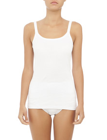 Jockey Woman Pure Comfort Cotton Ribbed Cami, White product photo