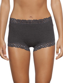 Jockey Woman Parisienne Cotton Full Brief, Charcoal Marle product photo
