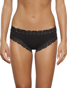 Jockey Woman Parisienne Cotton Bikini Brief, Black product photo
