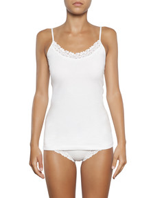 Jockey Woman Parisienne Cotton Cami, White product photo