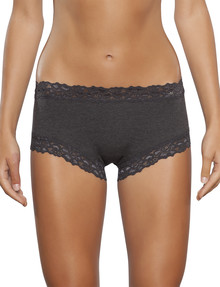 Jockey Woman Parisienne Cotton Boyleg Brief, Charcoal Marle product photo