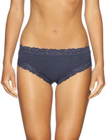 Jockey Woman Parisienne Cotton Marle Bikini Brief Ink Blue product photo