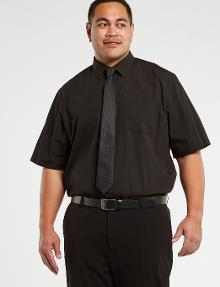Chisel Formal King Essential Short-Sleeve Shirt, Black product photo