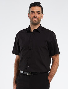 Chisel Formal Essential Short-Sleeve Shirt, Black product photo