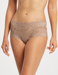 Lyric Microfibre Bandeau Lace Brief, Light Brown product photo