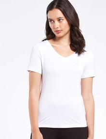 Bodycode V-Neck Tee, White product photo