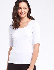 Bodycode Scoop Neck Tee, White product photo