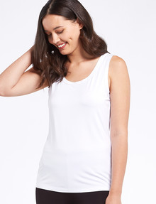 Bodycode Scoop Neck Tank, White product photo