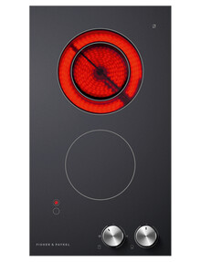 Fisher & Paykel Electric Ceramic Glass Cooktop 2 Zone, Black, CE302CBX2 product photo
