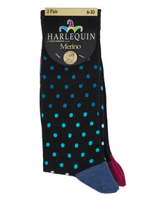 Harlequin Merino Spot Dress Sock, 2-Pack product photo