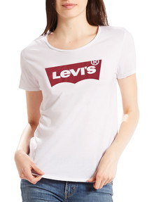 Levis Batwing Logo Printed Tee, White product photo