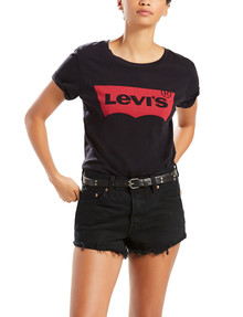 Levis Perfect Tee, Batwing Logo, Black product photo