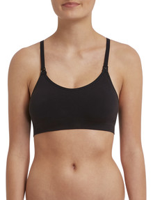 Bonds Bumps Maternity Seam-Free Crop Top, Black, S-XL product photo