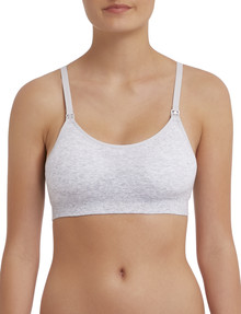 Bonds Bumps Maternity Seam-Free Crop Top, Light Heather Marle, S-XL product photo