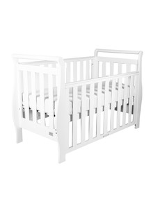 Babyhood Georgia Sleigh Cot, White product photo