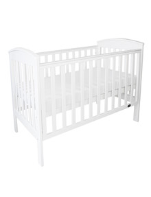 Babyhood Classic Curve Cot, White product photo