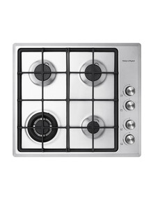 Fisher & Paykel 60cm 4 Burner Gas on Steel Cooktop, CG604CNGX2 product photo